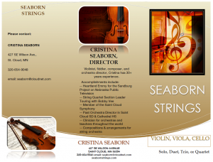 seaborn strings-wedding brochure
